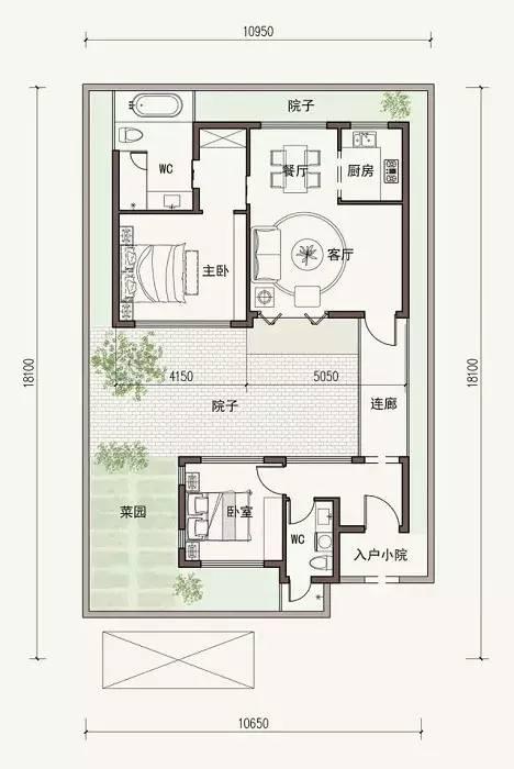 两室两卫设计
