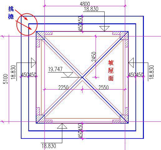 挑檐的平面图